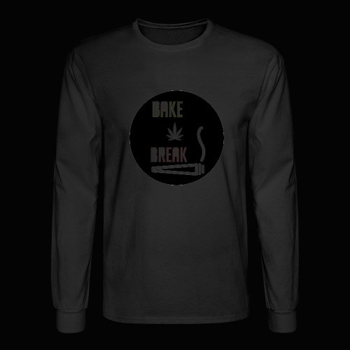 Bake Break Logo Cutout - Men's Long Sleeve T-Shirt
