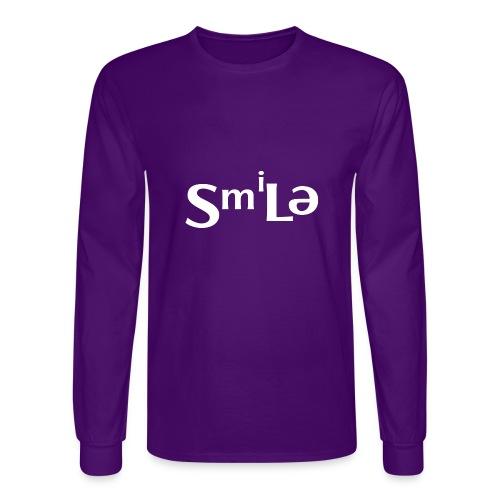 Smile Abstract Design - Men's Long Sleeve T-Shirt