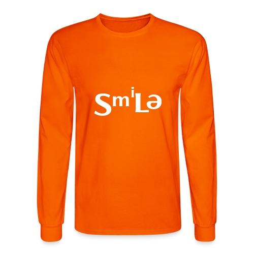 Smile Abstract Design - Men's Long Sleeve T-Shirt
