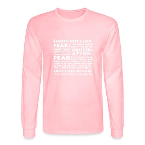 Litany Against Fear - Men's Long Sleeve T-Shirt