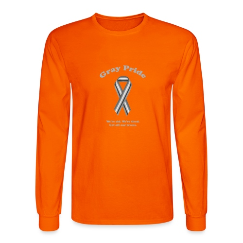 Gray Pride - Men's Long Sleeve T-Shirt