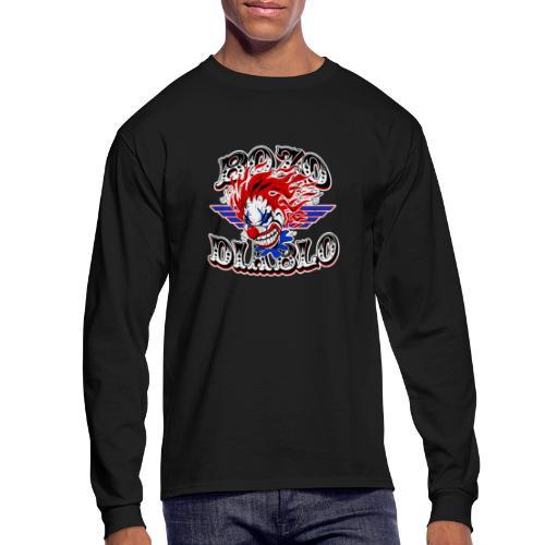 Bozo Diablo Crazy Clown Illustration - Men's Long Sleeve T-Shirt