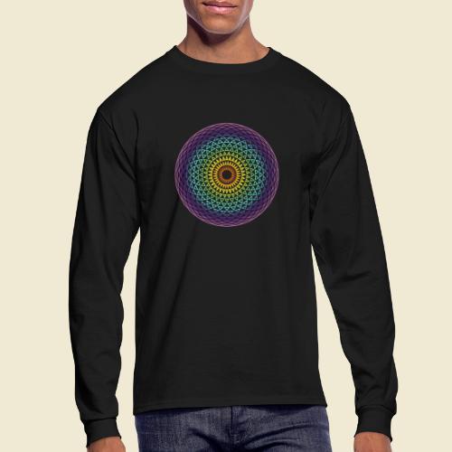Torus Yantra Hypnotic Eye rainbow - Men's Long Sleeve T-Shirt