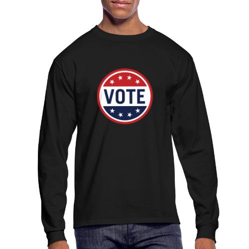 Vote Red, White and Blue with Stars - Men's Long Sleeve T-Shirt