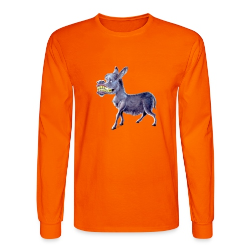 Funny Keep Smiling Donkey - Men's Long Sleeve T-Shirt