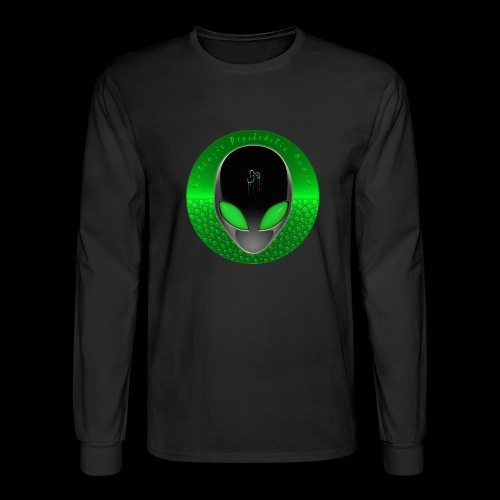 Psychedelic Alien Dolphin Green Cetacean Inspired - Men's Long Sleeve T-Shirt