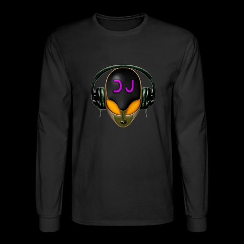 Alien DJ - Orange - Hard Shell Bug - Men's Long Sleeve T-Shirt