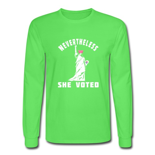 Nevertheless She Voted Pink Hat Lady Liberty - Men's Long Sleeve T-Shirt
