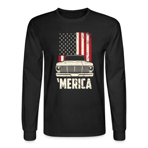 'Merican F100 Truck Men's T-Shirt - Men's Long Sleeve T-Shirt
