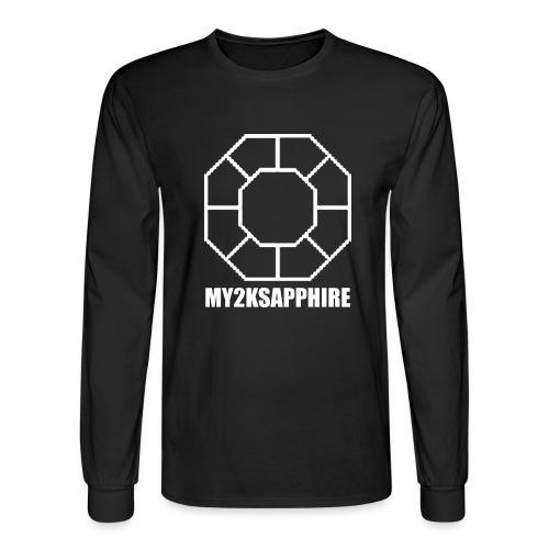 Unisex White Sapphire Hoodie - Men's Long Sleeve T-Shirt