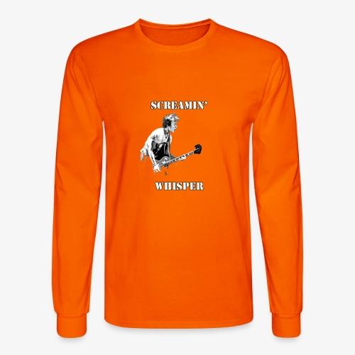 Screamin' Whisper Filth Design - Men's Long Sleeve T-Shirt