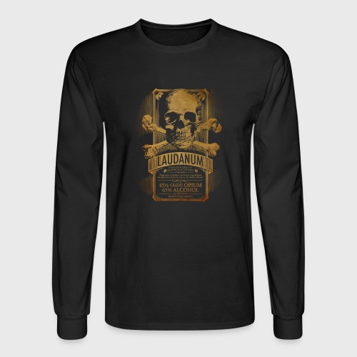 Laudanum Goth Steampunk Medical Doctor - Men's Long Sleeve T-Shirt
