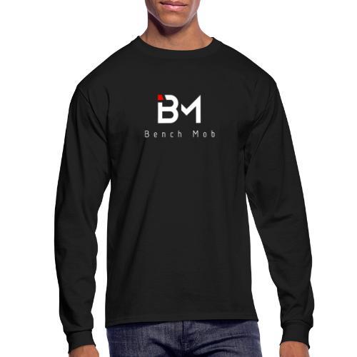 Bench Mob Logo (white) - Men's Long Sleeve T-Shirt