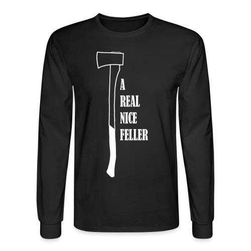 nice feller WHITE FINAL - Men's Long Sleeve T-Shirt