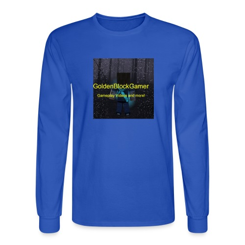 GoldenBlockGamer Tshirt - Men's Long Sleeve T-Shirt