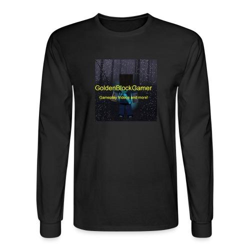 GoldenBlockGamer Tshirt - Men's Long Sleeve T-Shirt