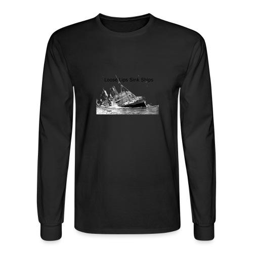 Enron Scandal Joke - Men's Long Sleeve T-Shirt