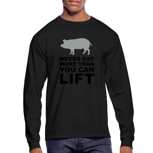 Never eat more than you can lift 2c (++) - Men's Long Sleeve T-Shirt