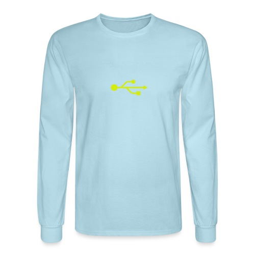 Yellow USB Logo Mid - Men's Long Sleeve T-Shirt