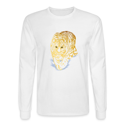 Golden Snow Tiger - Men's Long Sleeve T-Shirt