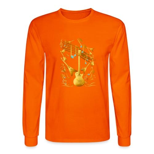 Gold Guitar Party - Men's Long Sleeve T-Shirt
