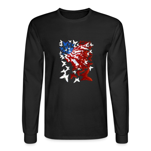 The Butterfly Flag - Men's Long Sleeve T-Shirt