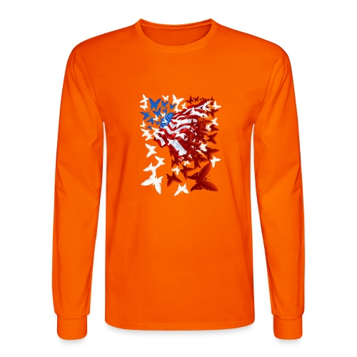The Butterfly Flag - Men's Long Sleeve T-Shirt