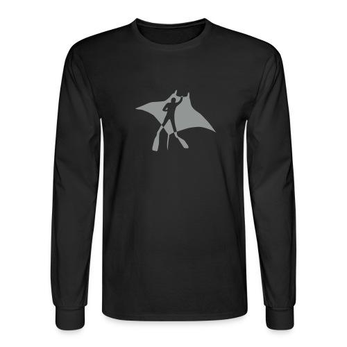 manta ray sting scuba diving diver dive fish ocean - Men's Long Sleeve T-Shirt