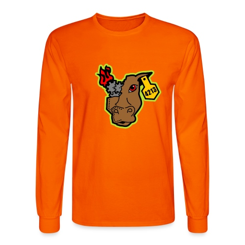 MetalCowRobotics Logo with Green Outline - Men's Long Sleeve T-Shirt