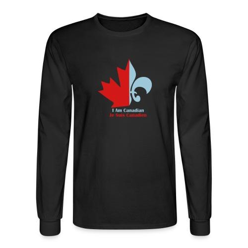 Maple Leaf Fleur de lis - Men's Long Sleeve T-Shirt