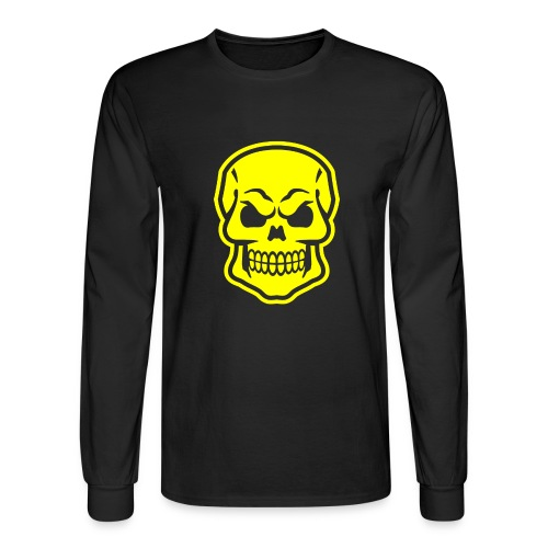 Skull vector yellow - Men's Long Sleeve T-Shirt
