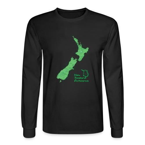 New Zealand's Map - Men's Long Sleeve T-Shirt