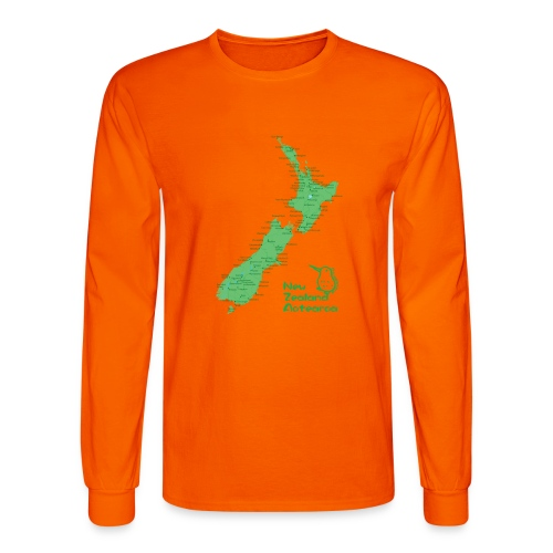 New Zealand's Map - Men's Long Sleeve T-Shirt