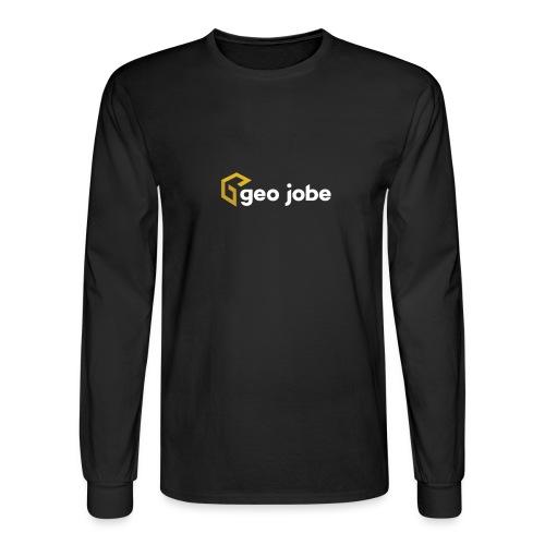 GEO Jobe Corp Logo White Text - Men's Long Sleeve T-Shirt