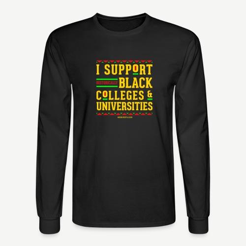 I Support HBCUs - Men's Long Sleeve T-Shirt