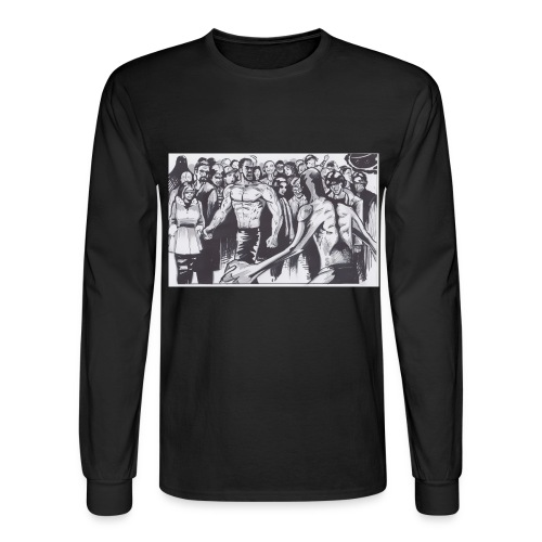 The Alley fight jpg - Men's Long Sleeve T-Shirt