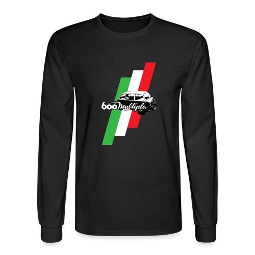 Fiat 600 Multipla script and illustration - - Men's Long Sleeve T-Shirt