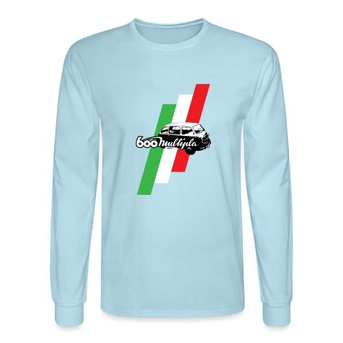 Fiat 600 Multipla script and illustration - - Men's Long Sleeve T-Shirt