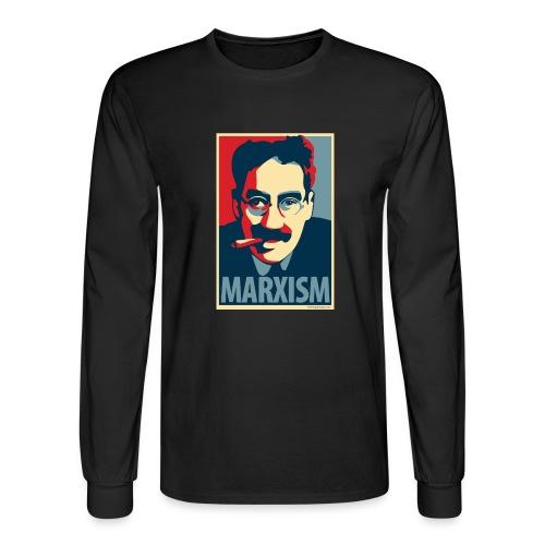 Marxism: Obama Poster Parody - Men's Long Sleeve T-Shirt