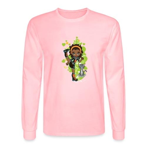 Aisha the African American Chibi Girl - Men's Long Sleeve T-Shirt