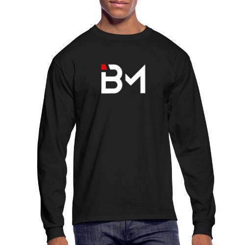 Bench Mob logo no lettering (white) - Men's Long Sleeve T-Shirt