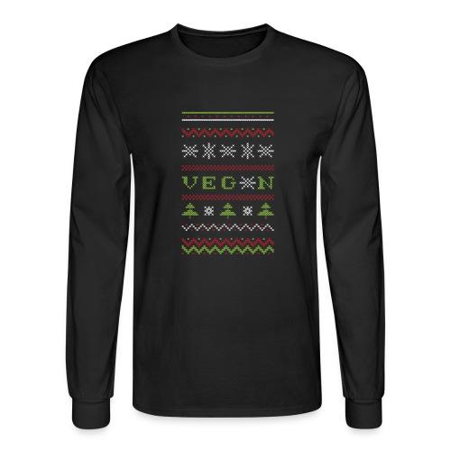 Veg*n Ugly Sweater Women's Wideneck Sweatshirt - Men's Long Sleeve T-Shirt