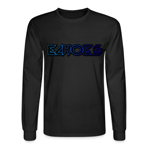 ECHO™Original Blue Logo Long Sleeve Shirt Black - Men's Long Sleeve T-Shirt