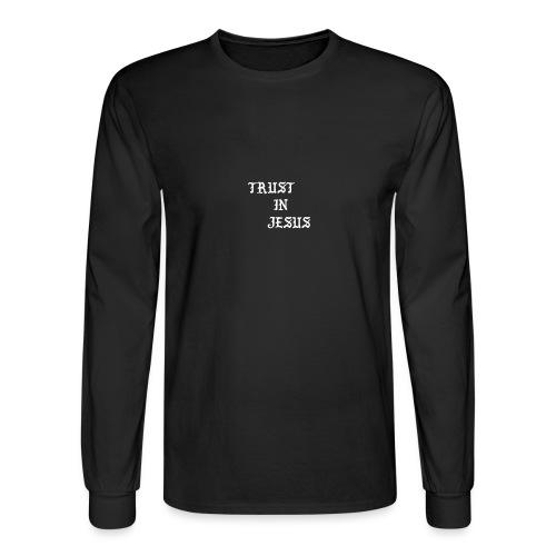Trust In Jesus Hoodie - Men's Long Sleeve T-Shirt