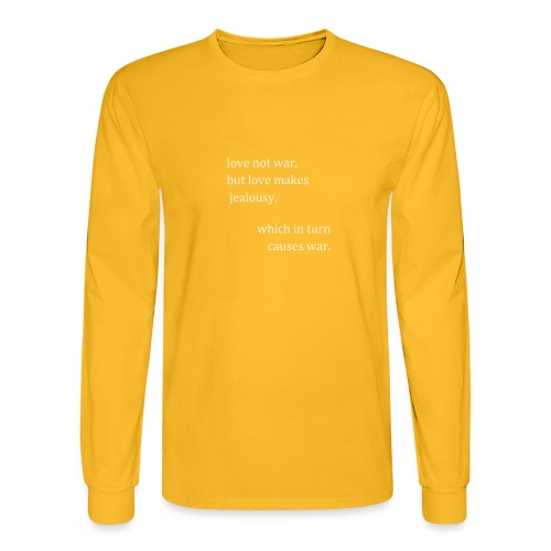 love not war (invert) - Men's Long Sleeve T-Shirt