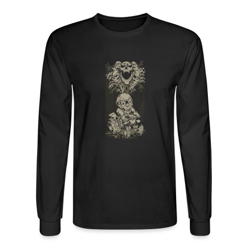 ATV Skully Skull Tree - Men's Long Sleeve T-Shirt