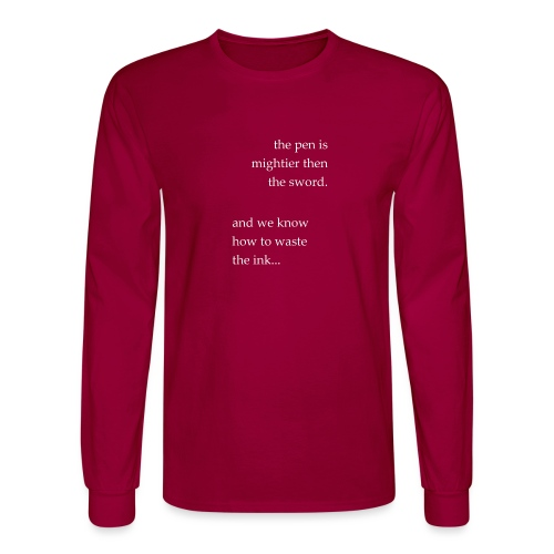invert the pen is mightier(invert) - Men's Long Sleeve T-Shirt