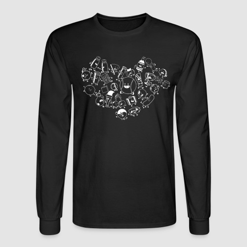 Inanimate Heart White - Men's Long Sleeve T-Shirt