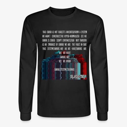 ERROR Lyrics - Men's Long Sleeve T-Shirt