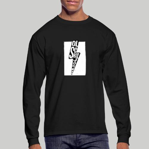 Ol' School Johnny Black and White Lightning Bolt - Men's Long Sleeve T-Shirt